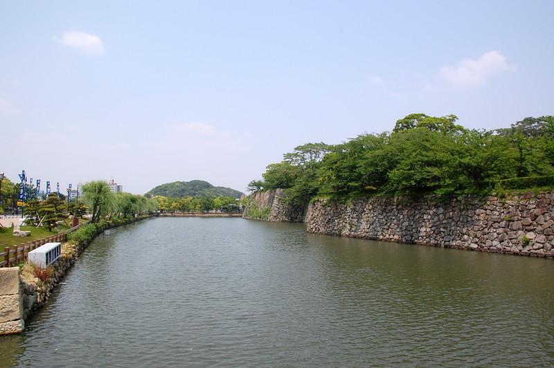 The Himeji Castle moat