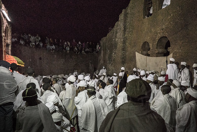 Orthodox Easter services at Bet Maryam, Lalibela