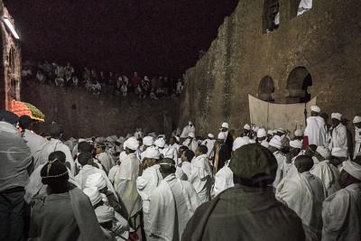 Orthodox Easter services at Bet Maryam, Lalibela