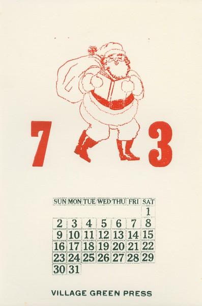 December, 1973, Village Green