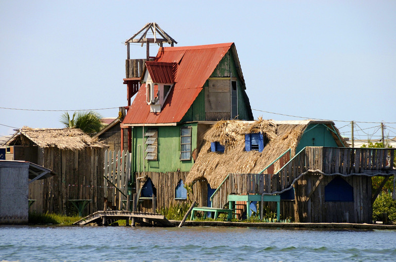 Local house on Lagoon side of the island.