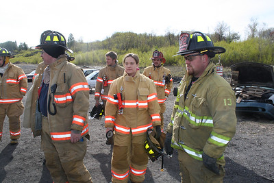 Car Fire Training, Area Firefighters, McAdoo (4-28-2012)