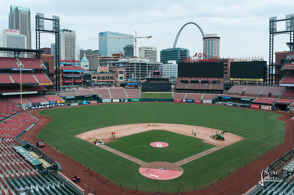 Busch Stadium Set up