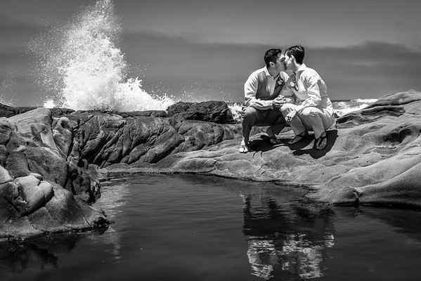 Whitney + Cecil Elopement near Pescadero