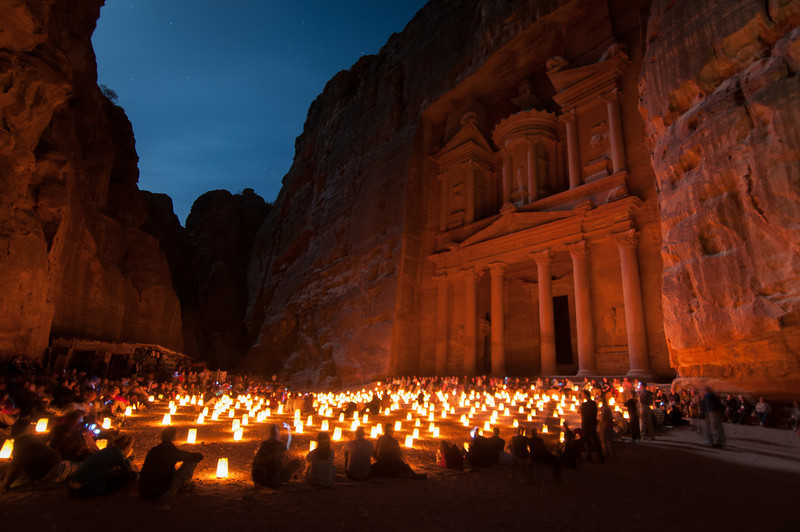 Petra, Jordan Illuminated in the Night