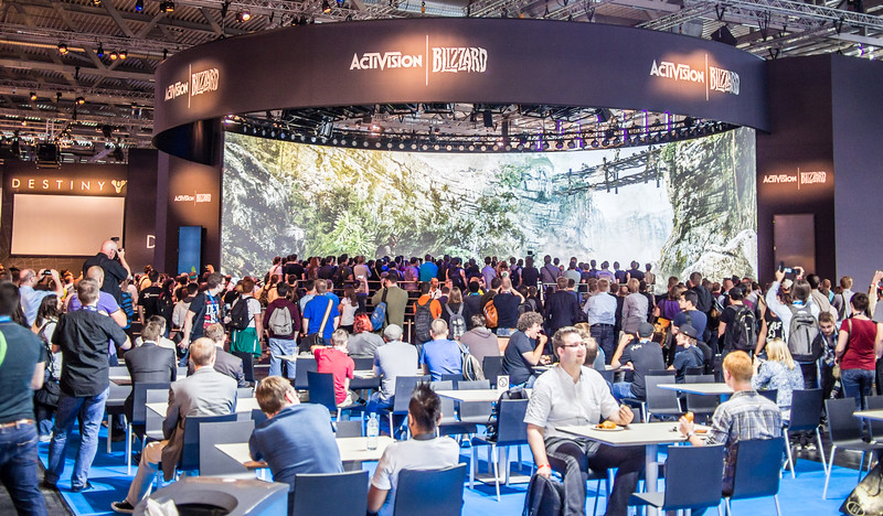 Activision Blizzard booth at Gamescom 2013