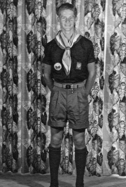 Don Isaac. 1953. Scout uniform for 1957 jamboree