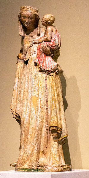 Virgin and Child, 14th C, Normandy