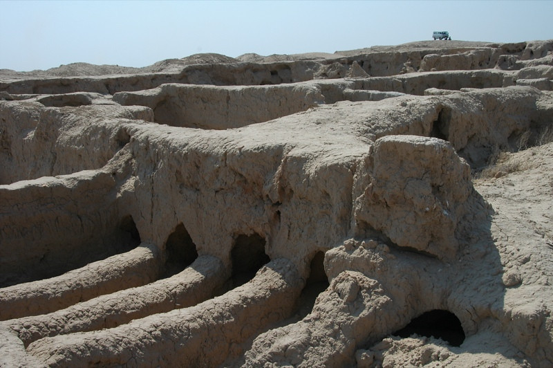 Tunnels at Archeological Site of Gonur Depe, Turkmenistan