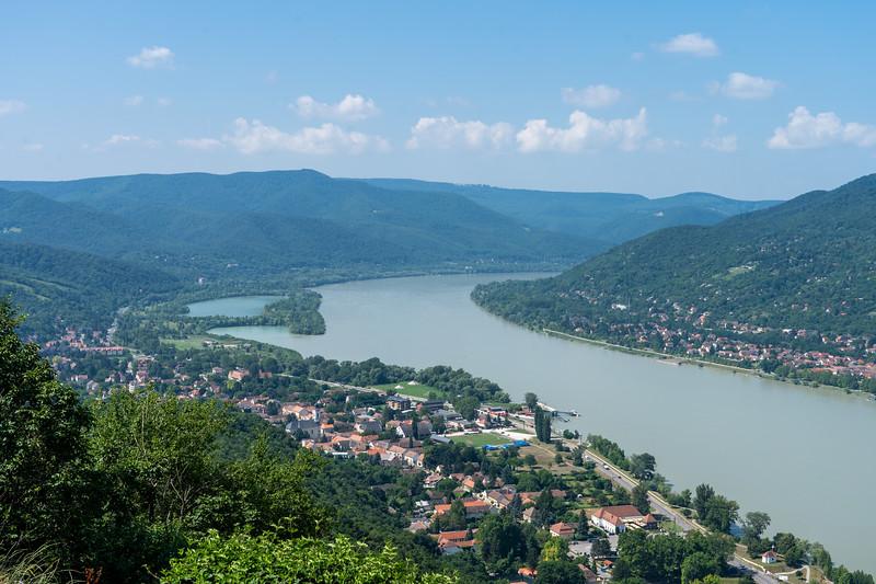 View of Danube in Visegrad