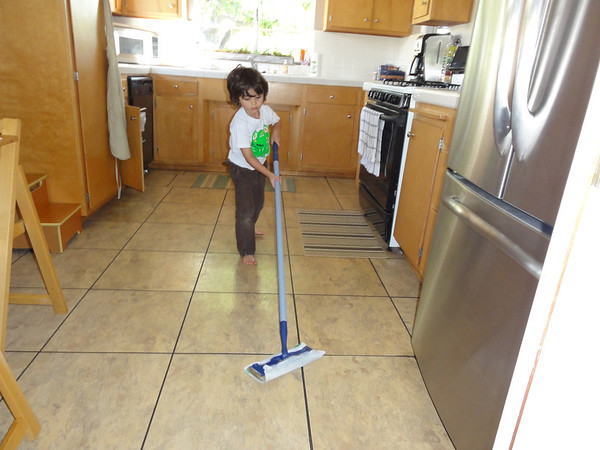 Boys Cleaning