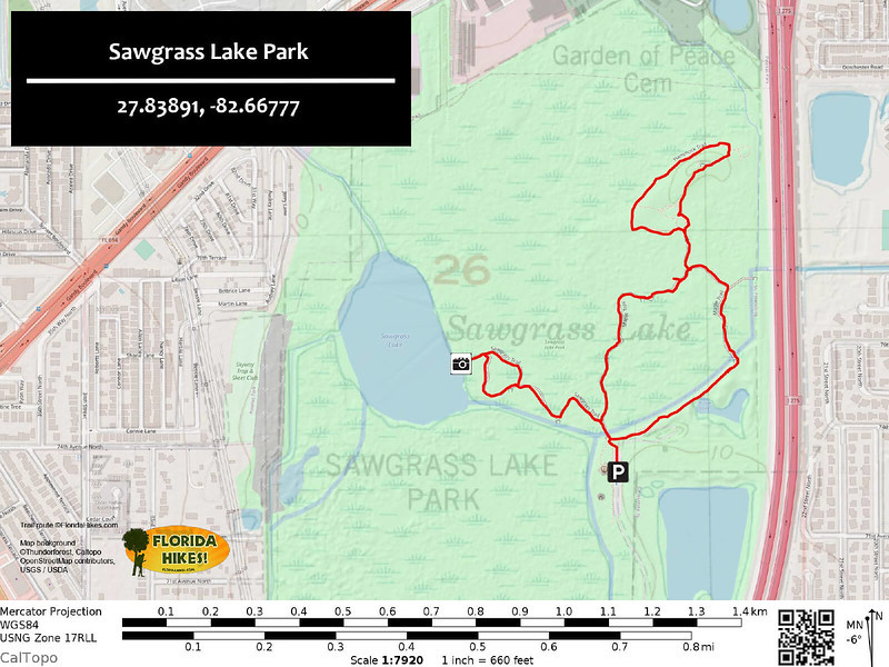 Sawgrass Lake Park Trail Map