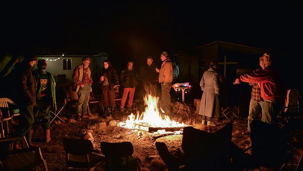 2016 bonfire at Tom's