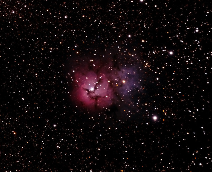 Messier M20 - NGC6514 Trifid Nebula - Gum 76 - 26/8/2011 - Dark Sky site near Wagin (Reprocessed stack)