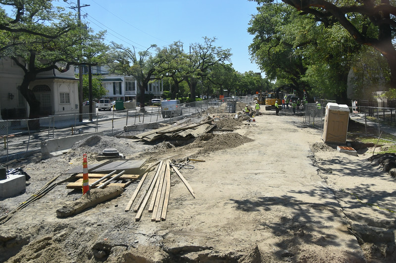Construction on under street canals