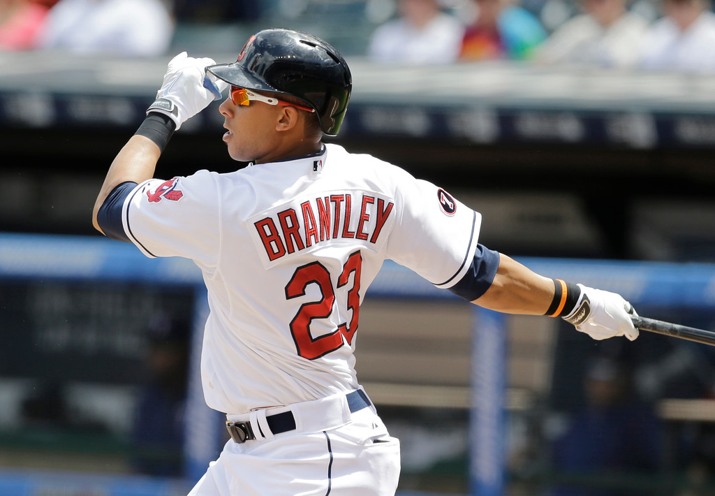 . Michael Brantley returns to his 2014-15 form >> Brantley played in only 11 games last season because of complications following surgery to repair a shoulder injury suffered late in 2015. He drove in seven runs. Brantley and the Indians are optimistic, but they will be cautious with Brantley this spring. He is hitting off a tee and will not play in early spring training games, manager Terry Francona told reporters on Feb. 15. He scored 162 runs and drove in 181 combined in 2014 and 2015. The Indians lineup will be lethal if he matches that production.  (AP Photo/Tony Dejak)