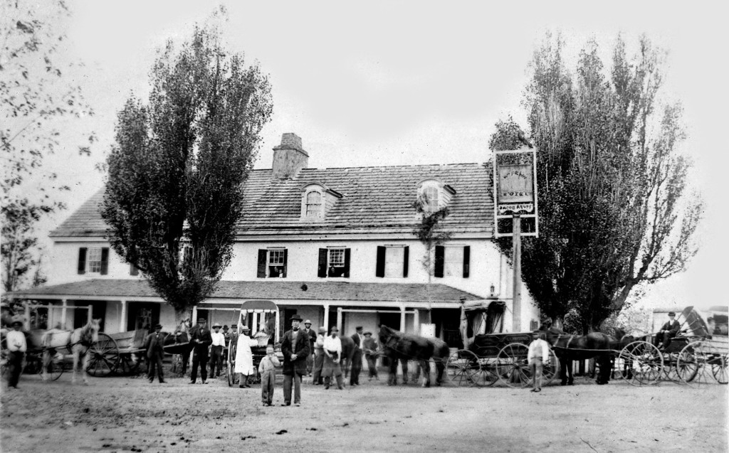 . This photo from the William Penn Inn shows the location in the 1880s. A release from the William Penn Inn says its roots date back to 1714, when it was opened as a public house providing food, drink and lodging to travelers between Philadelphia and the many small towns and hamlets scattered throughout the north and west of the city. It was licensed as a formal tavern in 1827 and named the �William Penn Hotel� by its then owner David Acuff, in honor of the Quaker founder of Pennsylvania while serving as governor.