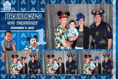 Brayden's 1st Birthday (LED Open Air Photo Booth)