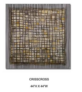 Crisscross-Hollack, painting on metal