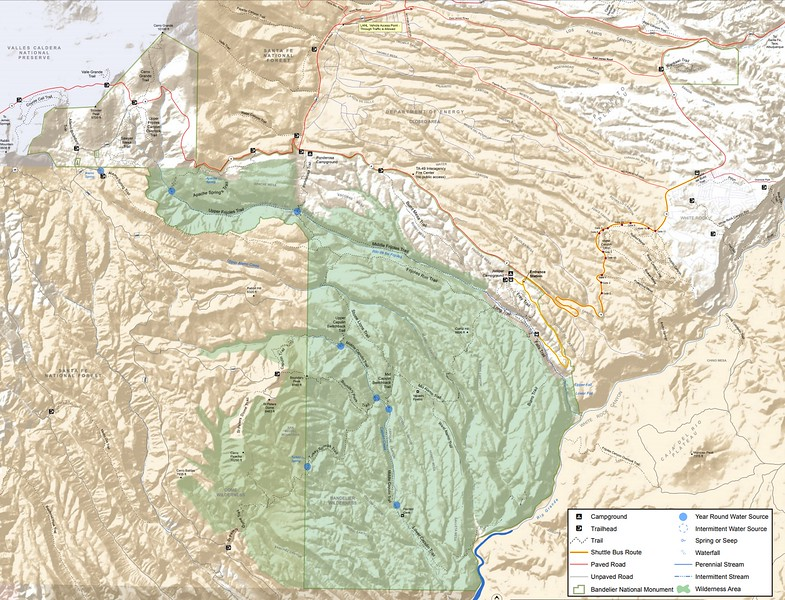 Bandelier National Monument (Trail Map)