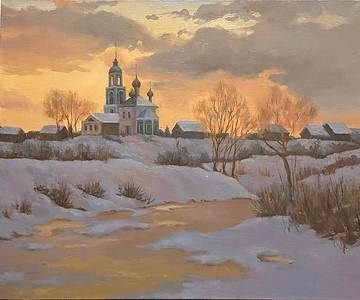 """Predawn quietness"" (oil on canvas) by Olga Dubnova"