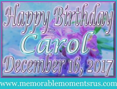 Carol's Surprise Birthday