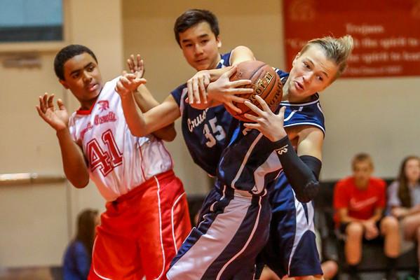 Mar 9 - Basketball - 8th Gr Gold vs SMG Red