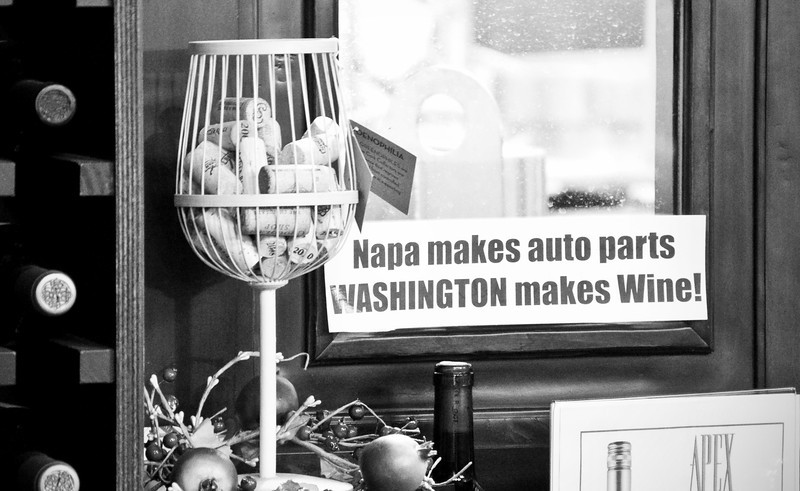 2012.10 - Chad's birthday: wine tasting in Prosser, WA. Cool bumper sticker at Apex Winery.