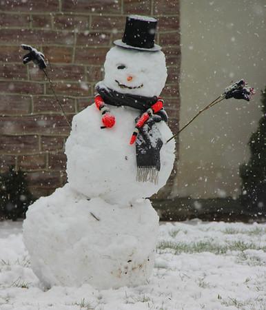 Snowman, Access Services, Schuylkill Ave, Tamaqua (11-27-2012)