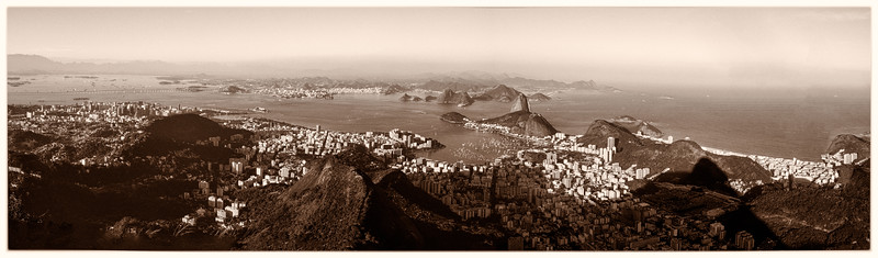 Magnificent panorama on Copacabana shot from Corcovado.