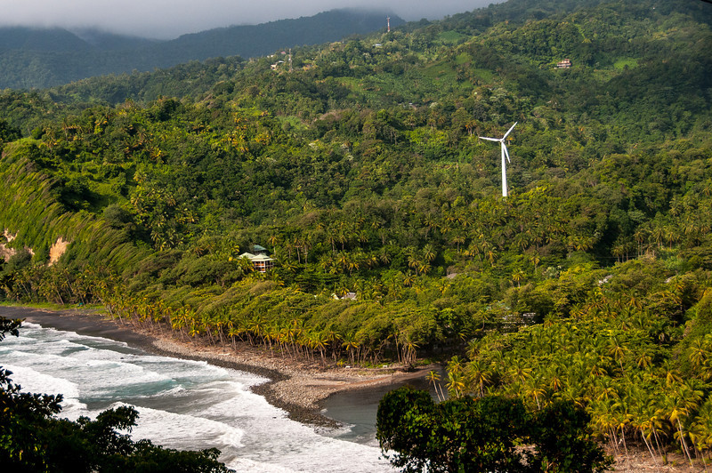 Windmill in the midst of rainforest in Dominica