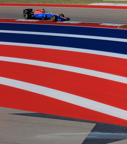 Pascal Wehrlein beside the esses paint.