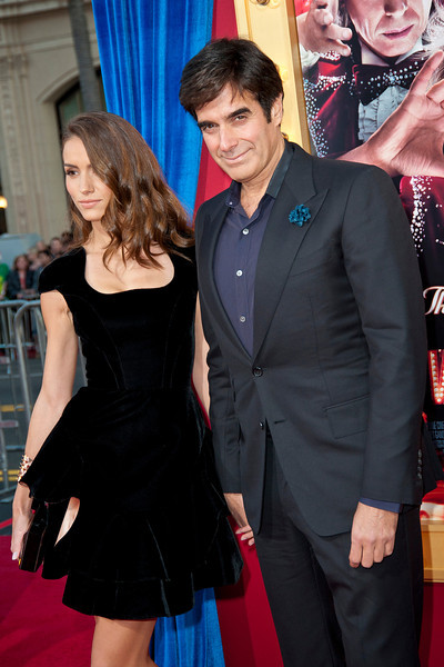 HOLLYWOOD, CA - MARCH 11: Illusionist David Copperfield (R) and Chloe Gosselin attend the premiere of Warner Bros. Pictures' 'The Incredible Burt Wonderstone' at TCL Chinese Theatre on Monday, March 11, 2013 in Hollywood, California. (Photo by Tom Sorensen/Moovieboy Pictures)