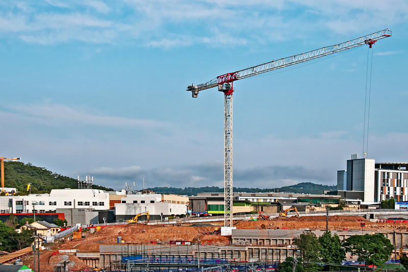 Gosford Hospital building progress  April 26, 2018.  (h12ed)