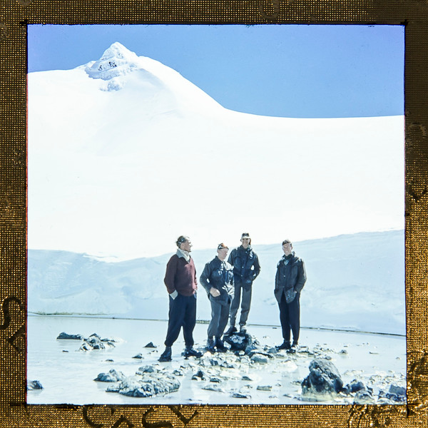 1960 standing on the crater lake shore, Mt Ruapehu.jpg