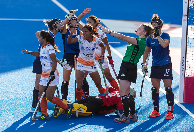 Italy v India - Women's Hockey World Cup 2018  - Cross-over Stage - Lee Valley Hockey & Tennis Centre