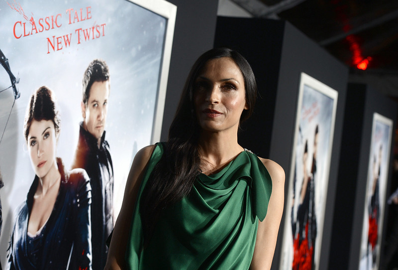 """. Actress Famke Janssen arrives for the Los Angeles premiere of Paramount  Pictures\' \""""Hansel And Gretel Witch Hunters\"""" at TCL Chinese Theatre on January 24, 2013 in Hollywood, California.  (Photo by Kevin Winter/Getty Images)"""