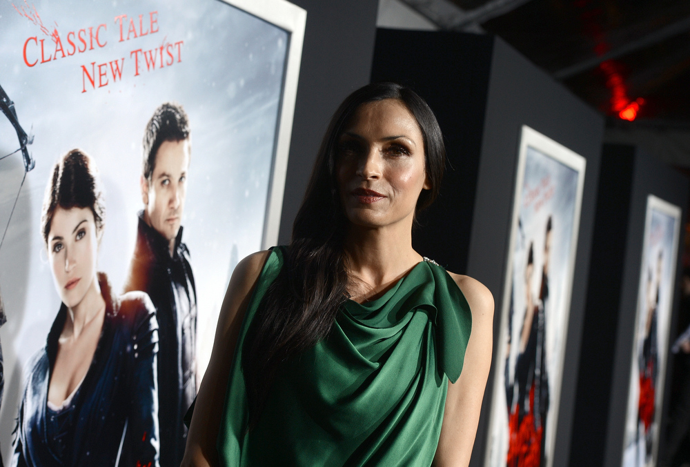 Description of . Actress Famke Janssen arrives for the Los Angeles premiere of Paramount  Pictures'