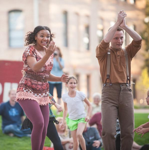 The Irish Greenshow at the Utah Shakespeare Festival. Sep. 1, 2015. Photo by Ian Billings