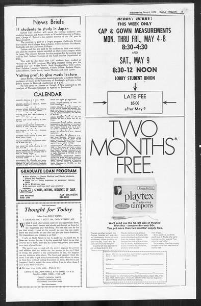 Daily Trojan, Vol. 61, No. 119, May 06, 1970