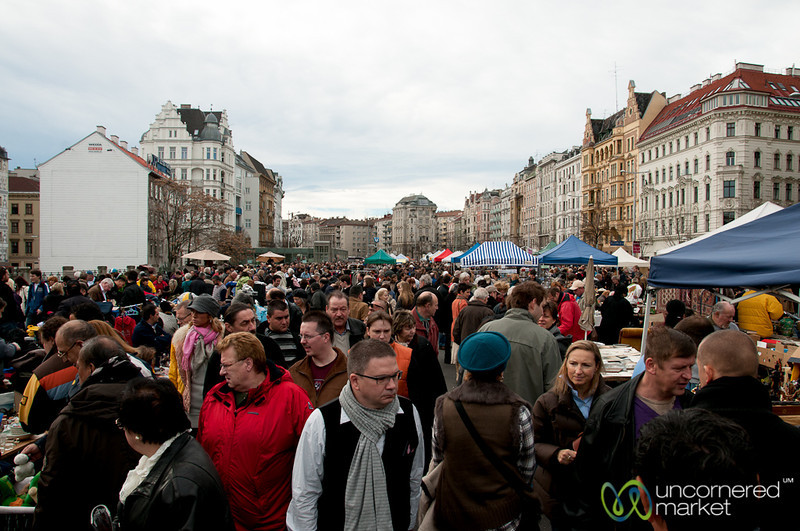 Busy Flea Market on Saturday Mornings - Vienna, Austria