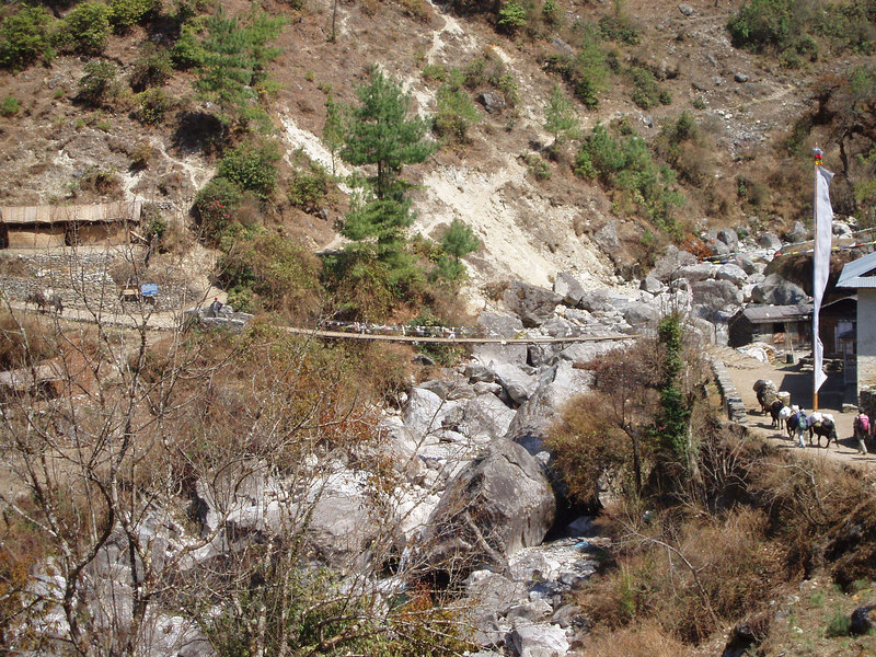 (Photo courtesy of Paul) River crossing on way to Phakding