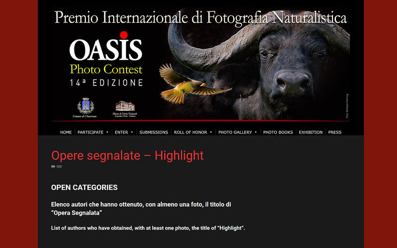 Oasis Photo Contest Highlight (14th edition)