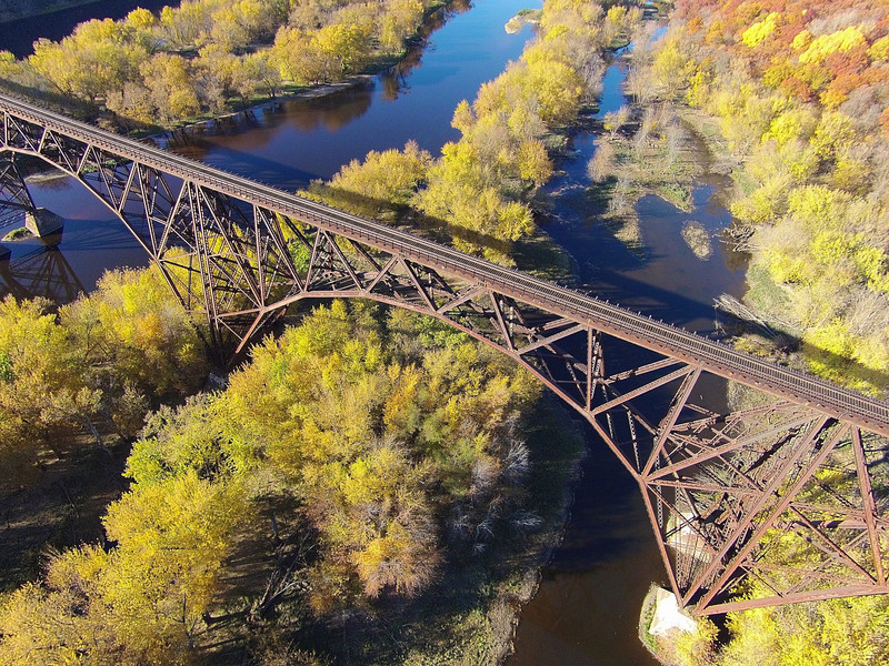 Arcola High Bridge. Saint Croix River Crossing Somerset, WI. The Arcola High Bridge was added to the National Register of Historical Places in 1977. Experts have called this bridge the most spectacular multi-span steel arch bridge in the world.