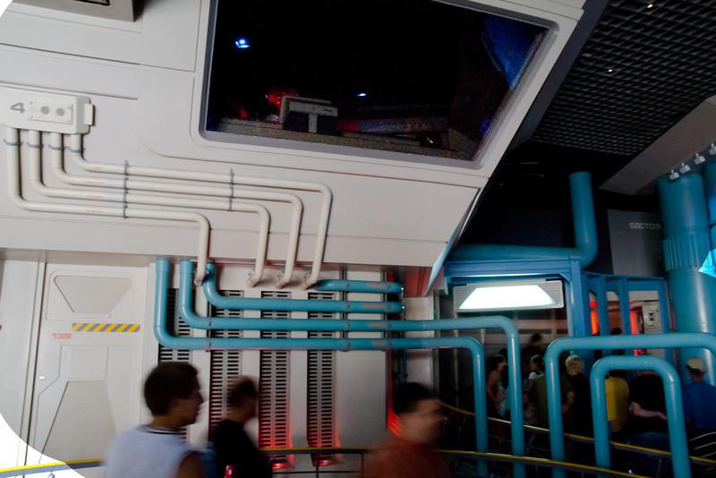 Disneyland Star Tours Queue Line