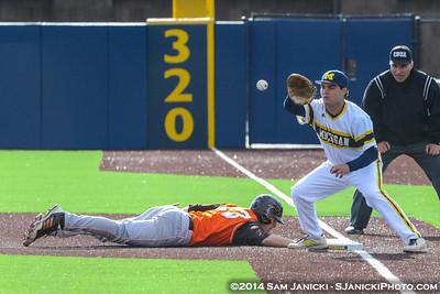 4-22-14 Michigan Baseball Vs BGSU