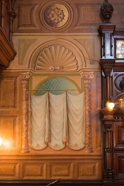 Trompe d'oeil curtians -- Eldridge Street Synagogue/ The Museum at Eldridge Street, Lower East Side, NYC
