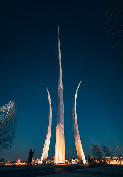 Air Force Memorial at Night