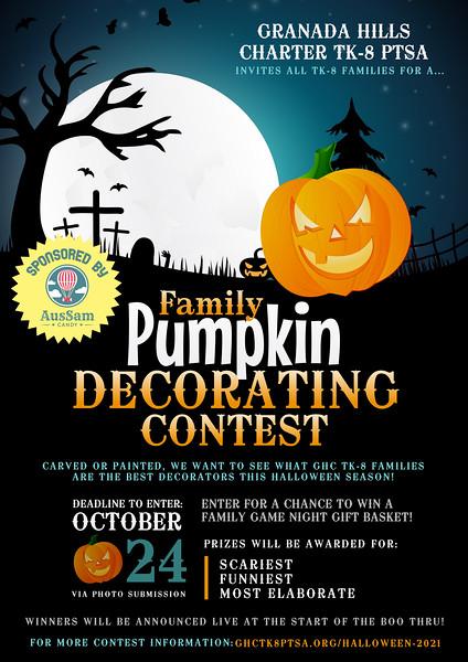 Pumpkin Decorating Contest 2021