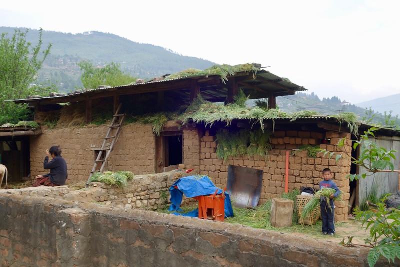 farm shed made with mud bricks